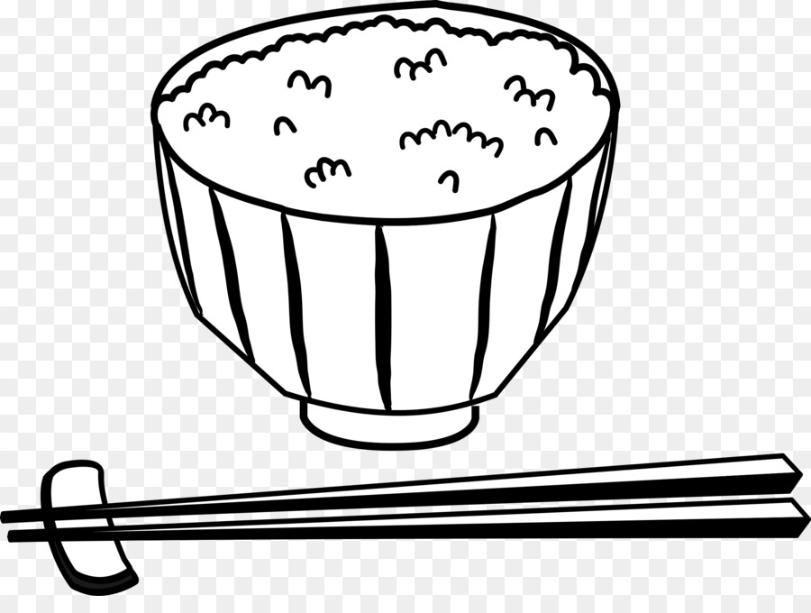 Download bowl of rice black and white clipart Chinese.