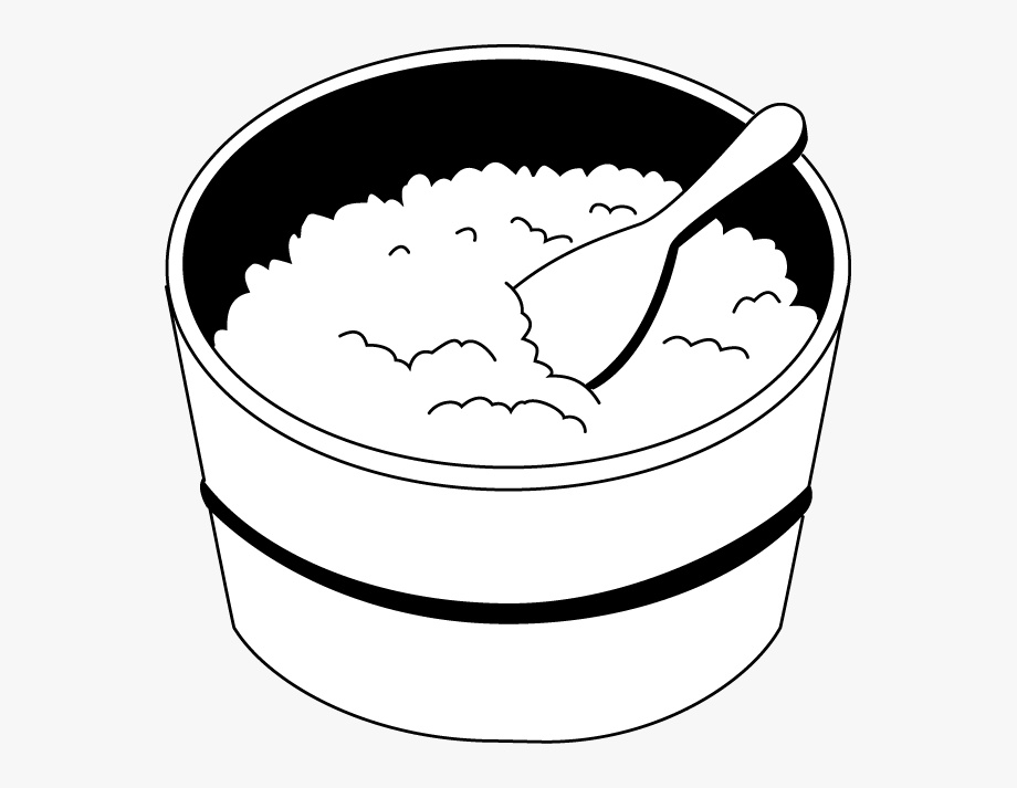 Fried Rice Clipart Black And White.