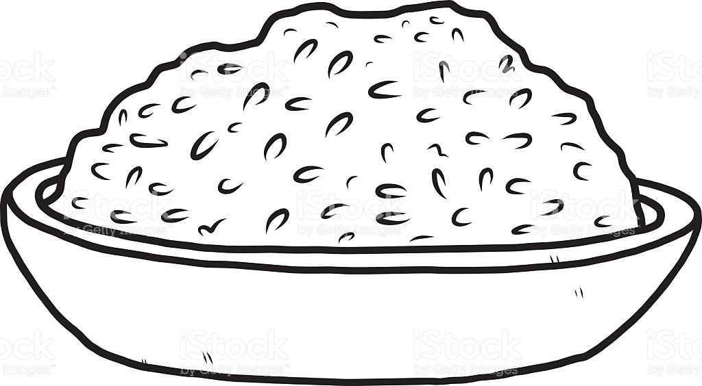 Rice clipart black and white 7 » Clipart Station.