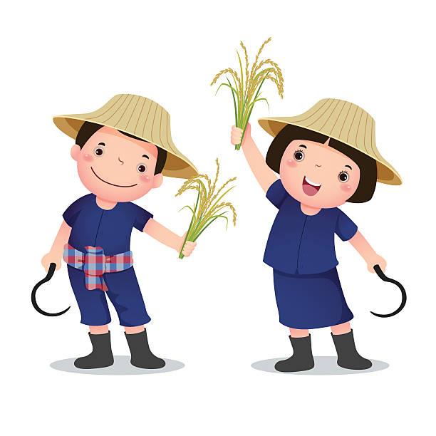 Rice Farm Clipart.