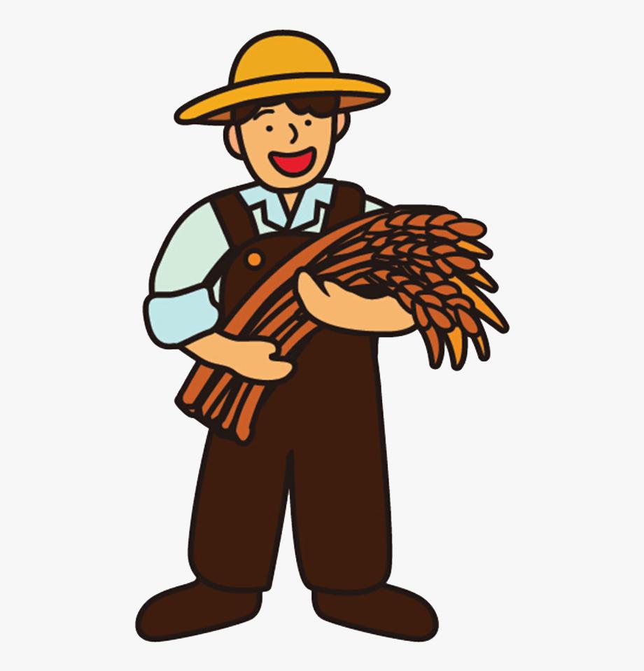 Cartoon Farmer Rice.