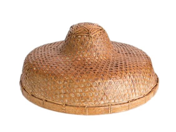 Chinese Rice Paddy Hat transparent PNG.