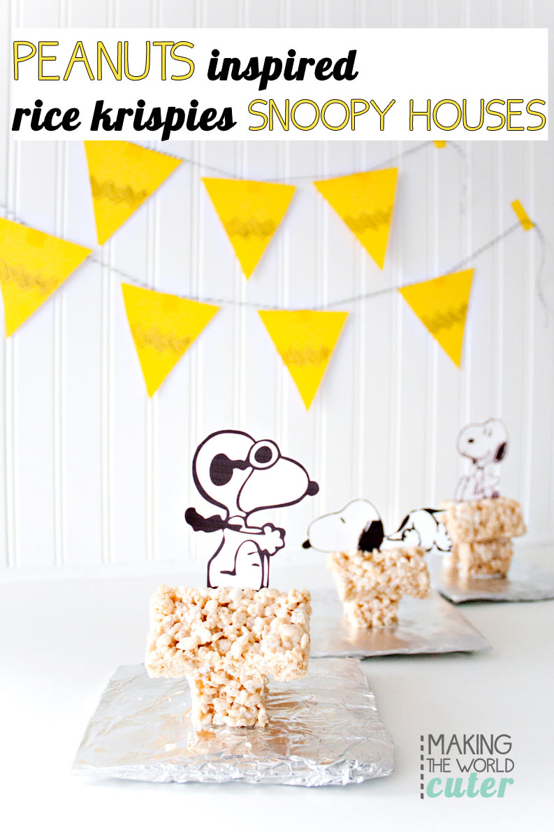 Rice Krispie Treat Snoopy House.