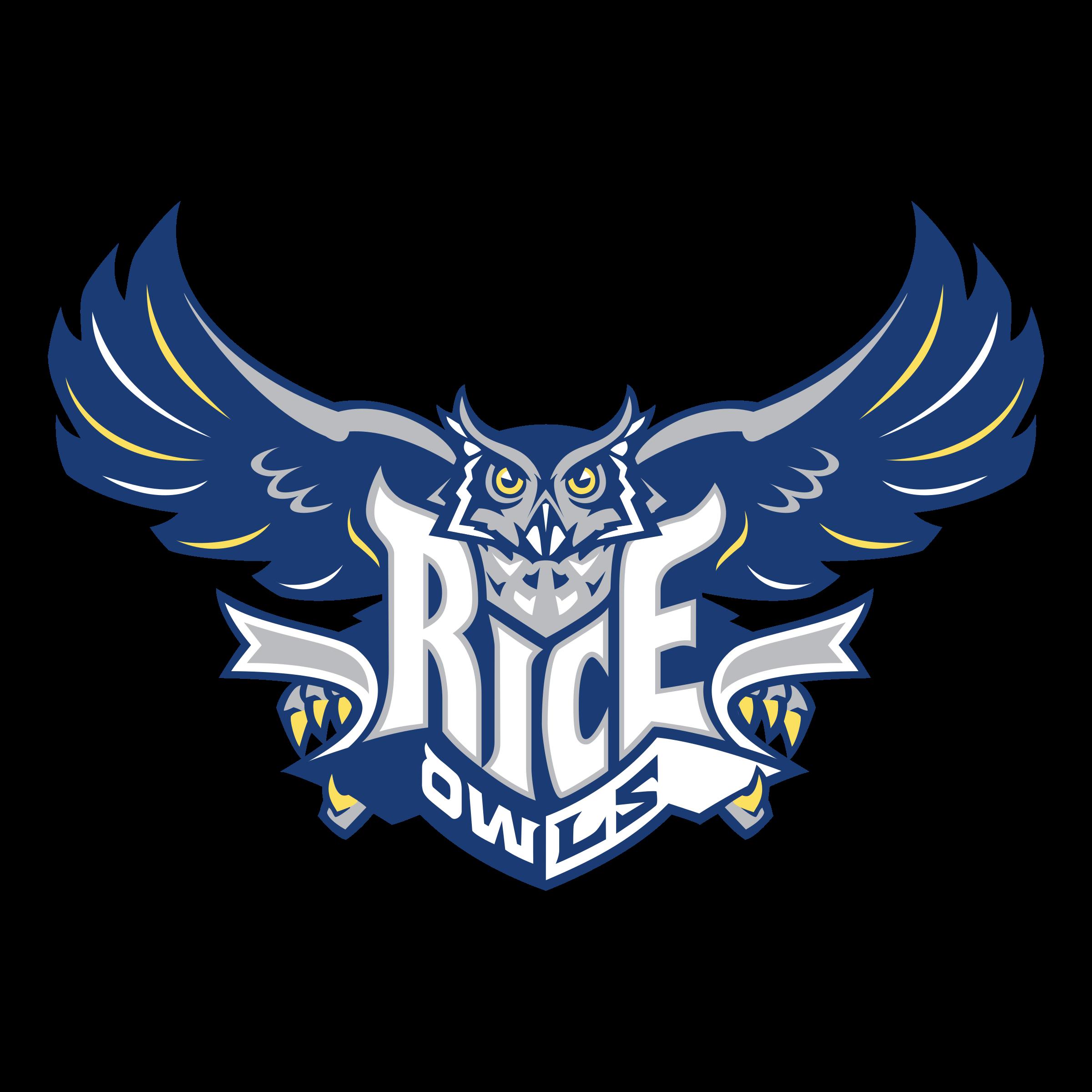 Rice Owls Logo PNG Transparent & SVG Vector.