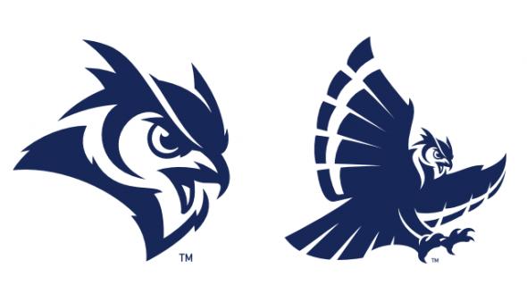 Rice Owls logos.