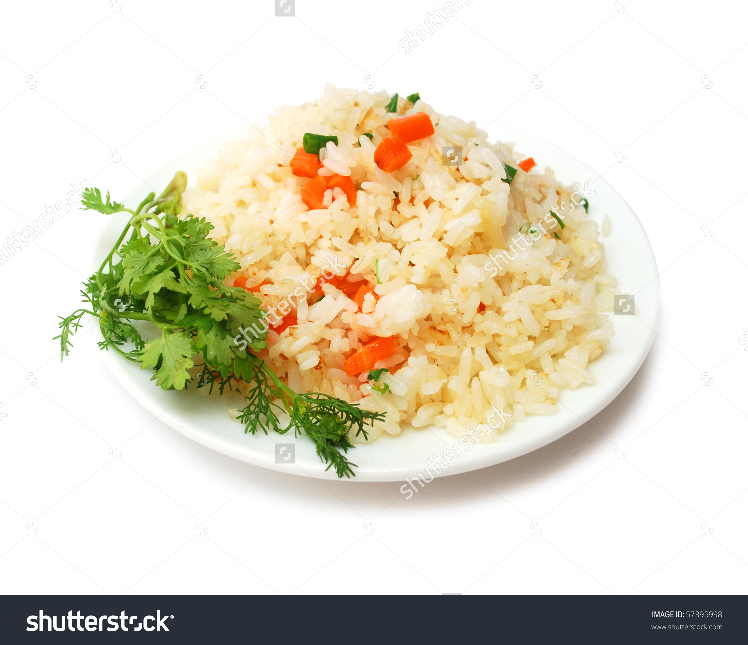 Fried Rice Plate Stock Photo 57395998.