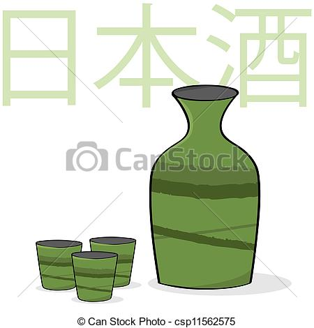 Japanese rice wine Vector Clip Art Illustrations. 60 Japanese rice.