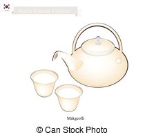 Vector Clipart of Japanese Traditional Rice Wine, Popular Dink in.