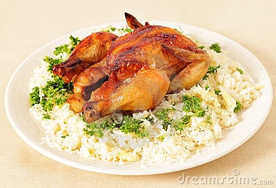 Rice And Chicken Clipart.