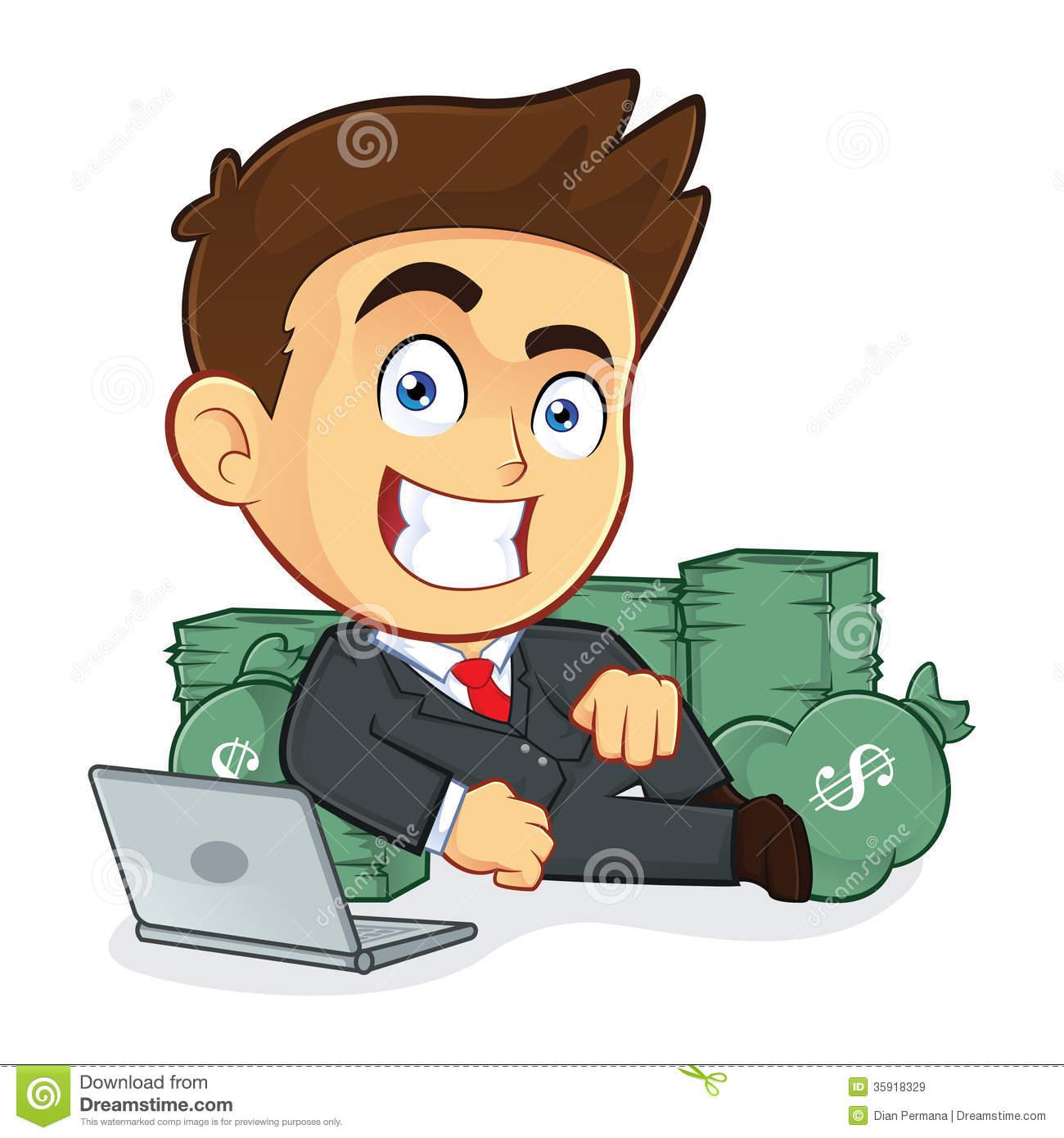Rich Businessman Clipart.