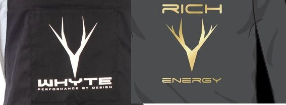 Bizarre logo coincidence? Rich Energy and Whyte Bikes.