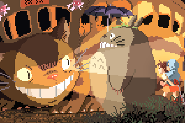 Pixelated Studio Ghibli Tributes by Rich Evans ~ The Day The Web.