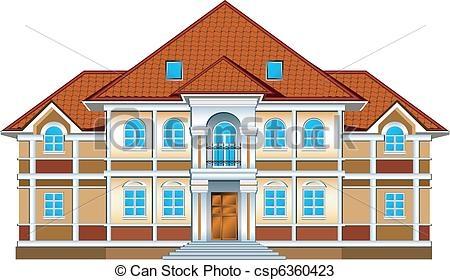 Rich House Clipart.