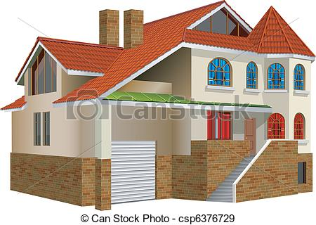 EPS Vectors of Private residence.