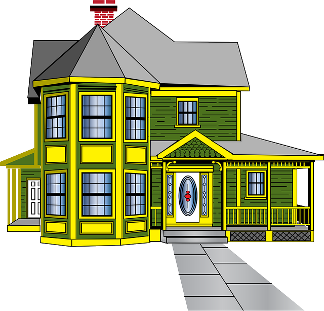 Free vector graphic: House, Green, Yellow, Windows.