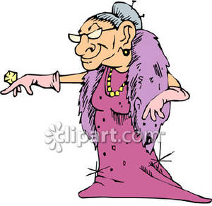 Rich Old Woman Clipart.