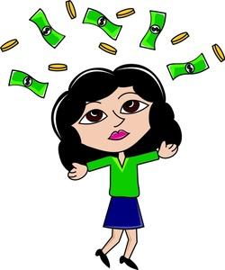 Rich Woman Clipart Image.