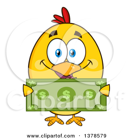 Yellow Rich Chick Holding Cash Posters, Art Prints by Hit Toon.