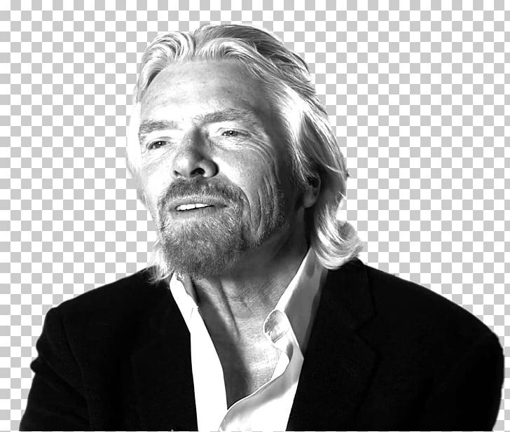 Richard Branson Talking, man wearing white collared top PNG.