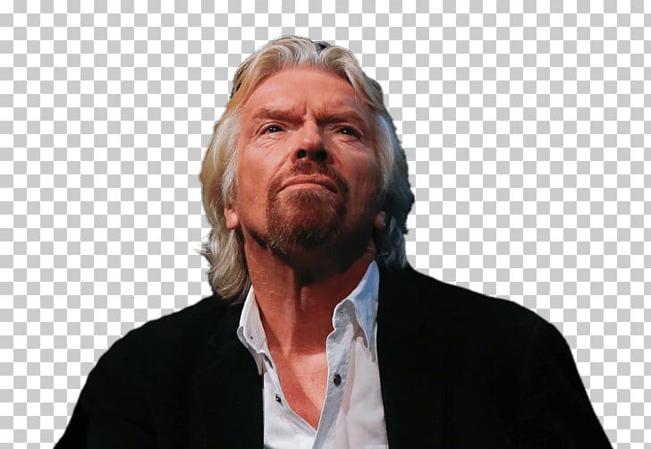 Richard Branson Looking Up, man wearing suit jacket PNG.