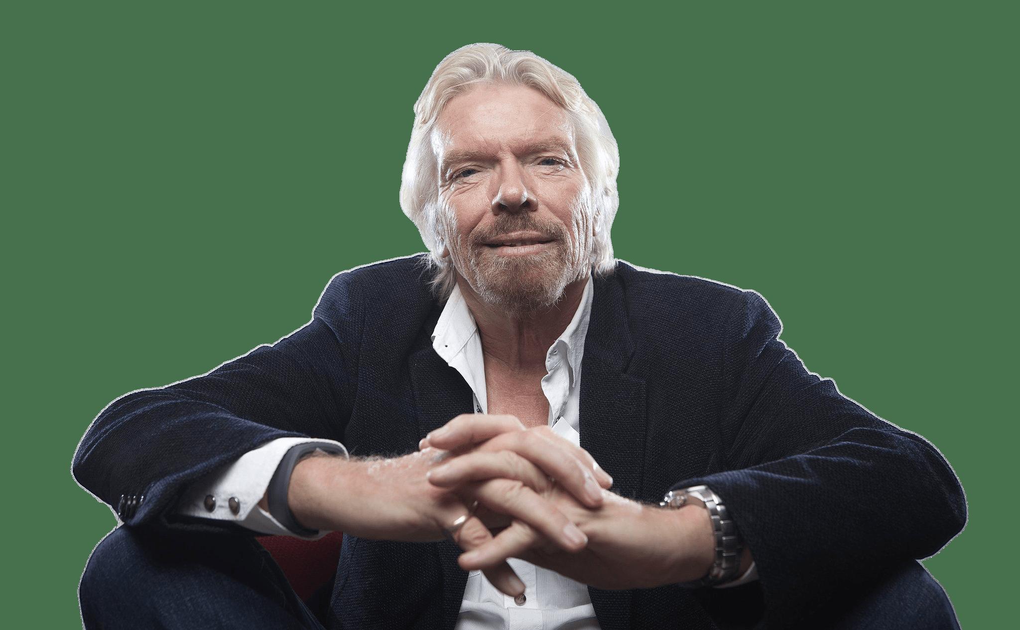 Richard Branson Sitting transparent PNG.