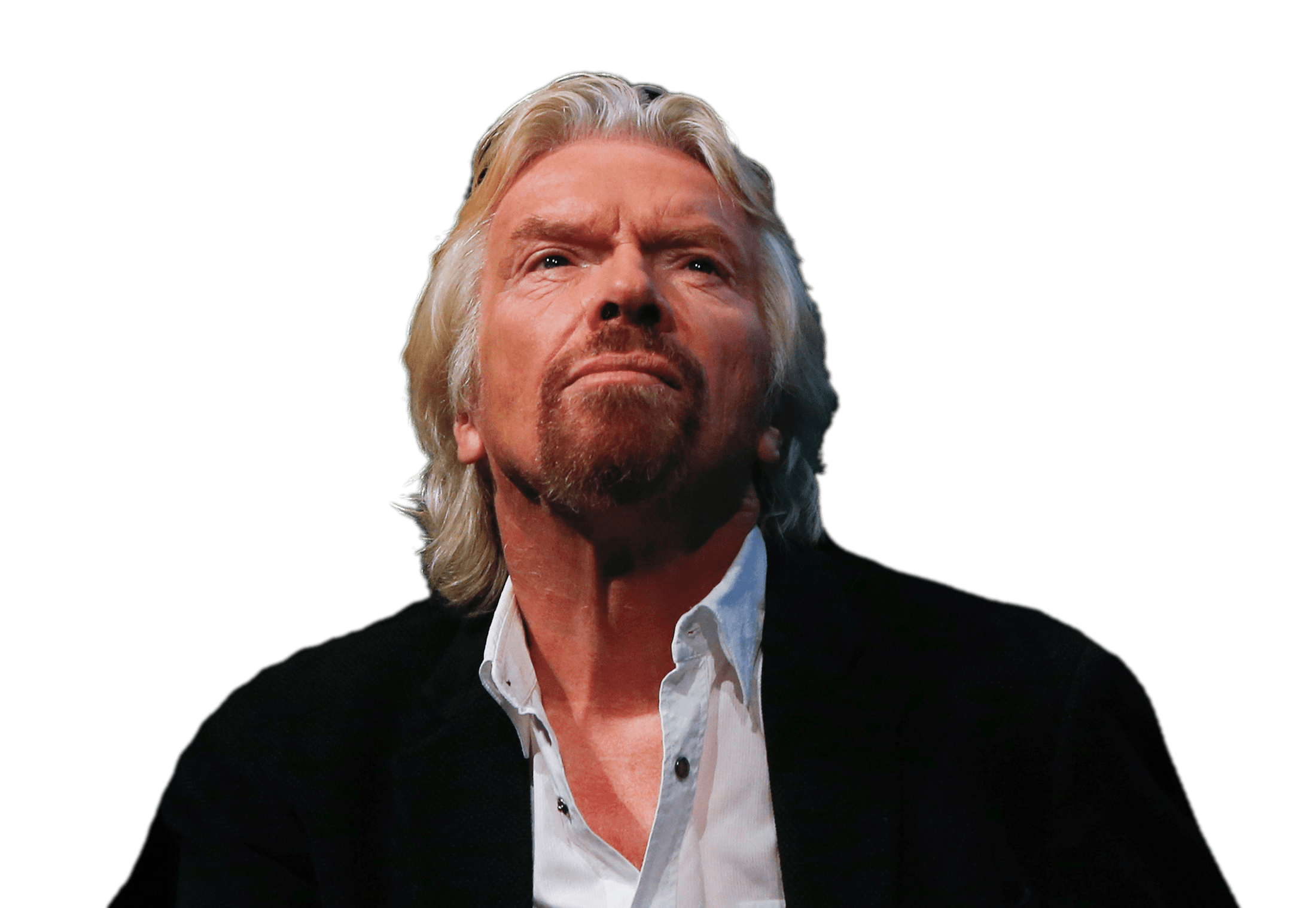 Richard Branson Looking Up transparent PNG.