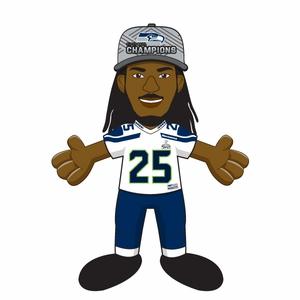 Richard Sherman (Seattle Seahawks) Super Bowl XLVIII Champs (w/Hat.