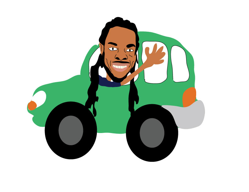 Richard Sherman Drives a Lyft.