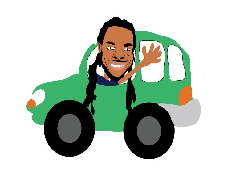 Richard Sherman Drives a Lyft.