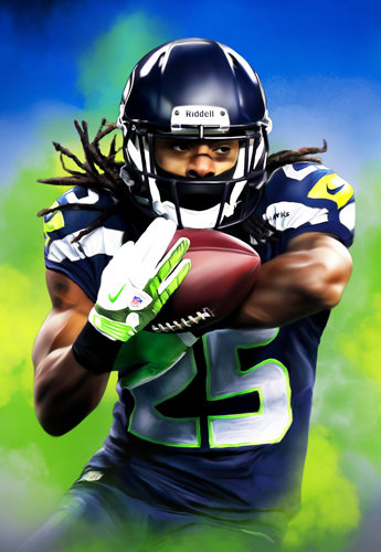 Richard Sherman Shutdown Seattle Seahawks Official NFL Poster.