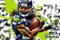 FREE SHIPPING: Richard Sherman Ninja Portrait by ArtWrenchDotCom.