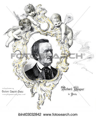 """Stock Photo of """"Richard Wagner, illustration from the yearbook."""