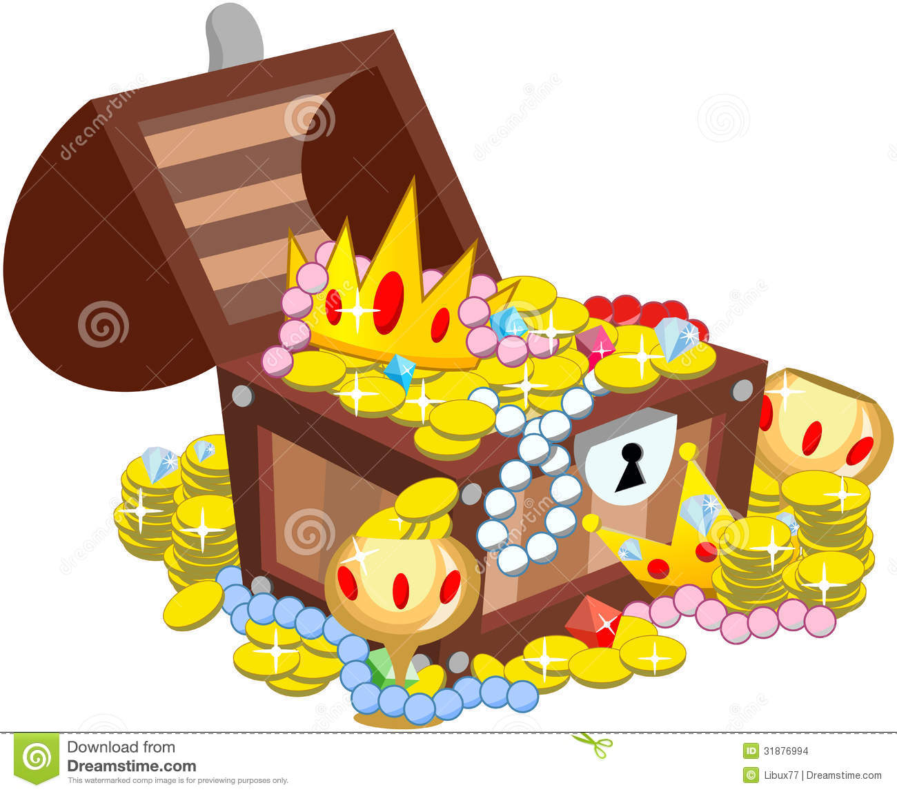 Open Treasure Chest Isolated Stock Photos, Images, & Pictures.