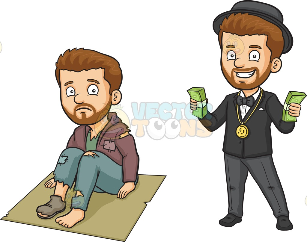 Rags to riches clipart.