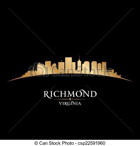 Clipart Vector of Richmond, Virginia skyline. Detailed city.