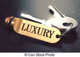 Richness written on golden keyring Illustrations and Clipart. 2.