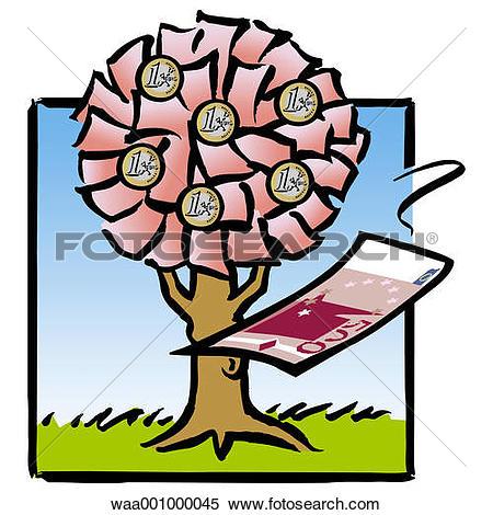 Stock Illustration of trees, change, upheaval, evolution, 2002.