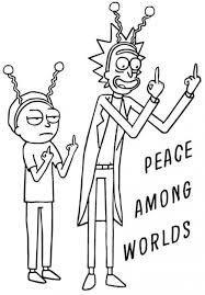 Image result for rick and morty black and white.