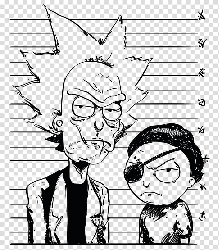 Rick and Morty sketch, T.