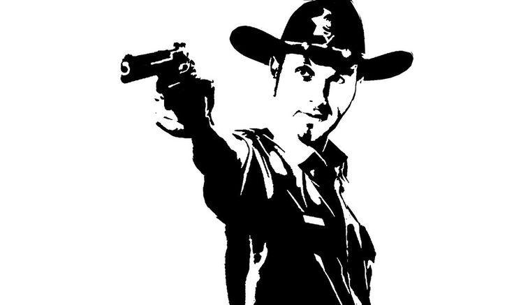 Sheriff Rick Walking Dead Clip Art.