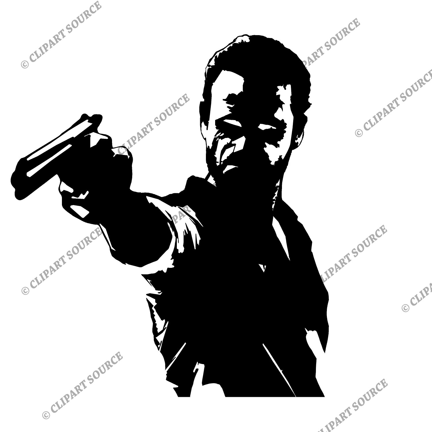 Walking Dead Rick Clipart.