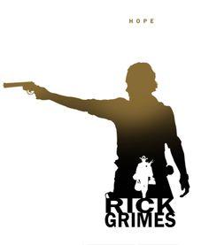 Rick Walking Dead Clipart.