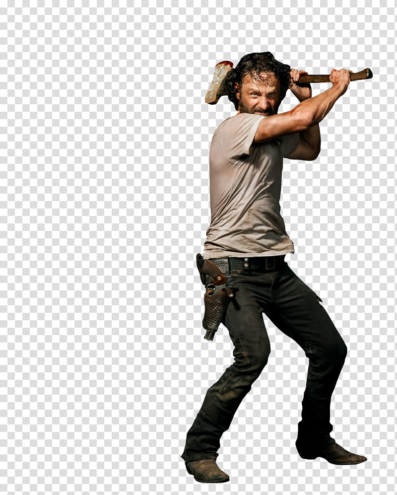 The Walking Dead , Walking Dead Rick Grimes transparent.
