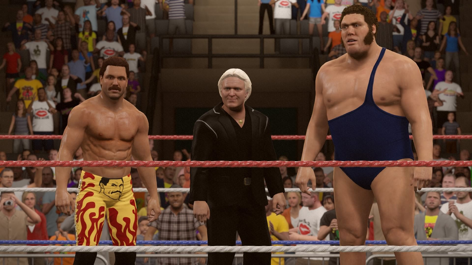 Rick Rude, Bobby Heenan & Andre The Giant.