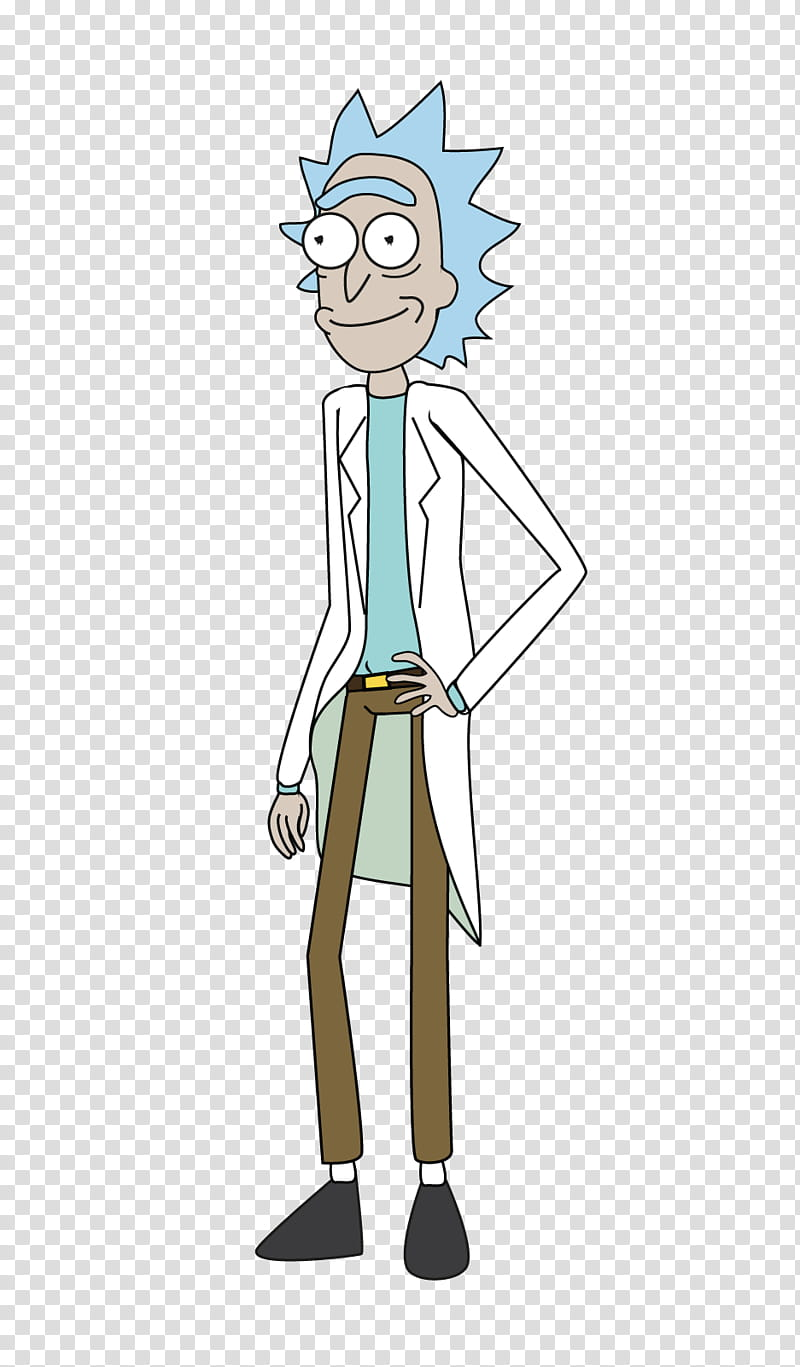 Rick Sanchez transparent background PNG clipart.