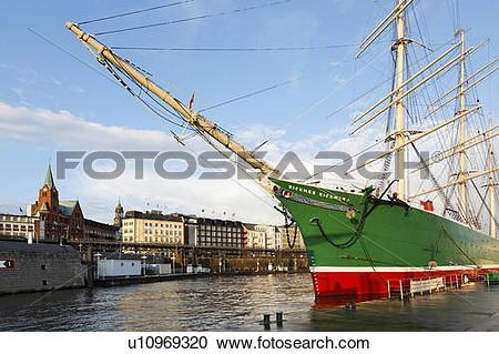 Stock Photography of tall ship freighter rickmer rickmers circ.