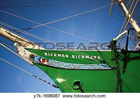 Picture of View of the old sailing ship Rickmer Rickmers in the.