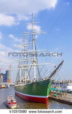 "Stock Photography of ""Rickmer Rickmers"" in Hamburg k10310580."