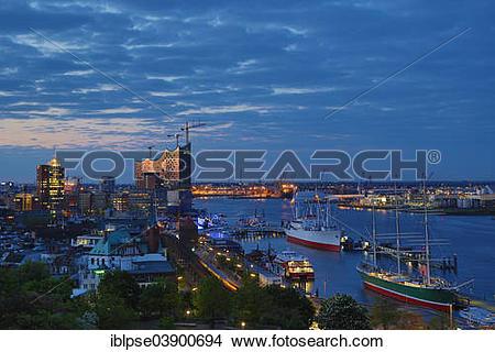 "Stock Photo of ""The museum ships Rickmers Rickmers and Cap San."