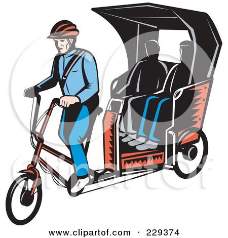 Rickshaw clipart #8